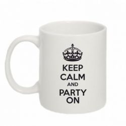 Кружка 320ml KEEP CALM and PARTY ON