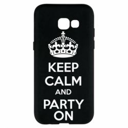 Чехол для Samsung A5 2017 KEEP CALM and PARTY ON - FatLine
