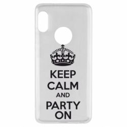 Чехол для Xiaomi Redmi Note 5 KEEP CALM and PARTY ON - FatLine