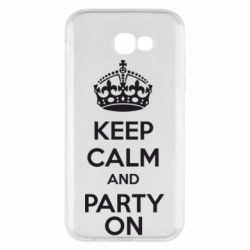 Чехол для Samsung A7 2017 KEEP CALM and PARTY ON - FatLine