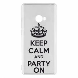 Чехол для Xiaomi Mi Note 2 KEEP CALM and PARTY ON - FatLine