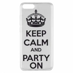 Чехол для Xiaomi Mi Note 3 KEEP CALM and PARTY ON - FatLine