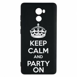 Чехол для Xiaomi Redmi 4 KEEP CALM and PARTY ON - FatLine
