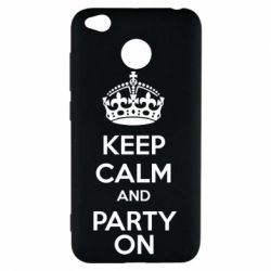 Чехол для Xiaomi Redmi 4x KEEP CALM and PARTY ON - FatLine