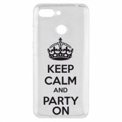 Чехол для Xiaomi Redmi 6 KEEP CALM and PARTY ON - FatLine
