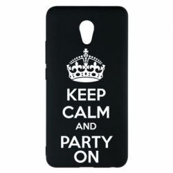 Чехол для Meizu M5 Note KEEP CALM and PARTY ON - FatLine