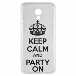 Чехол для Meizu M6s KEEP CALM and PARTY ON - FatLine