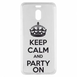 Чехол для Meizu M6 Note KEEP CALM and PARTY ON - FatLine