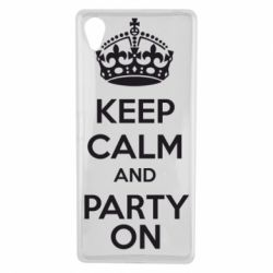 Чехол для Sony Xperia X KEEP CALM and PARTY ON - FatLine