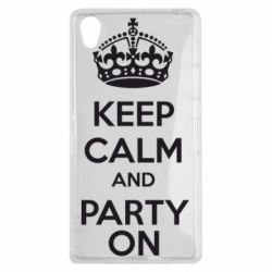 Чехол для Sony Xperia Z1 KEEP CALM and PARTY ON - FatLine
