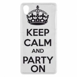 Чехол для Sony Xperia Z2 KEEP CALM and PARTY ON - FatLine