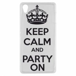 Чехол для Sony Xperia Z3 KEEP CALM and PARTY ON - FatLine