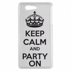 Чехол для Sony Xperia Z3 mini KEEP CALM and PARTY ON - FatLine