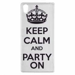 Чехол для Sony Xperia Z5 KEEP CALM and PARTY ON - FatLine