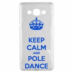 Чехол для Samsung A5 2015 KEEP CALM and pole dance