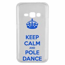 Чехол для Samsung J1 2016 KEEP CALM and pole dance