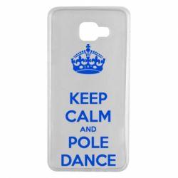 Чехол для Samsung A7 2016 KEEP CALM and pole dance