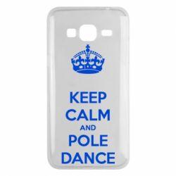 Чехол для Samsung J3 2016 KEEP CALM and pole dance