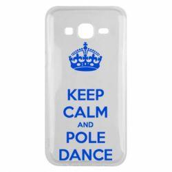 Чехол для Samsung J5 2015 KEEP CALM and pole dance