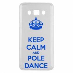 Чехол для Samsung J5 2016 KEEP CALM and pole dance
