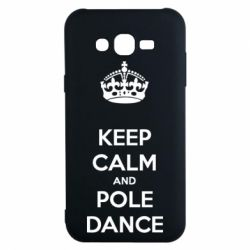 Чехол для Samsung J7 2015 KEEP CALM and pole dance