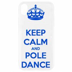 Чехол для iPhone XR KEEP CALM and pole dance