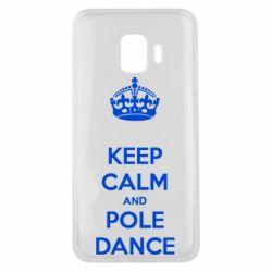 Чехол для Samsung J2 Core KEEP CALM and pole dance