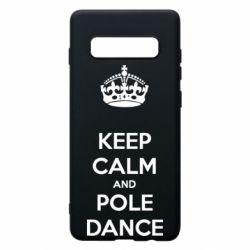 Чехол для Samsung S10+ KEEP CALM and pole dance