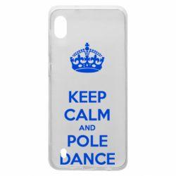 Чехол для Samsung A10 KEEP CALM and pole dance