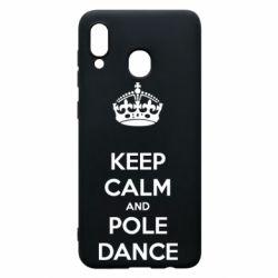 Чохол для Samsung A20 KEEP CALM and pole dance
