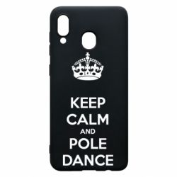 Чехол для Samsung A20 KEEP CALM and pole dance
