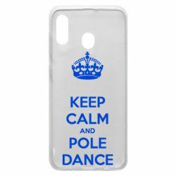 Чехол для Samsung A30 KEEP CALM and pole dance