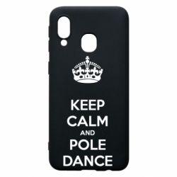 Чехол для Samsung A40 KEEP CALM and pole dance