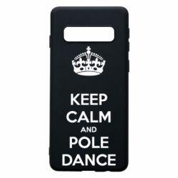 Чохол для Samsung S10 KEEP CALM and pole dance