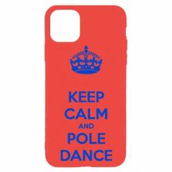 Чехол для iPhone 11 Pro KEEP CALM and pole dance