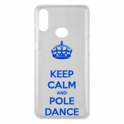 Чехол для Samsung A10s KEEP CALM and pole dance