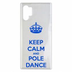 Чехол для Samsung Note 10 Plus KEEP CALM and pole dance