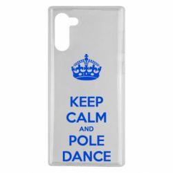 Чехол для Samsung Note 10 KEEP CALM and pole dance