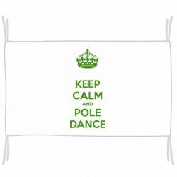 Прапор KEEP CALM and pole dance