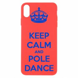 Чехол для iPhone X/Xs KEEP CALM and pole dance