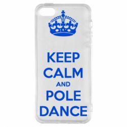Чохол для iphone 5/5S/SE KEEP CALM and pole dance