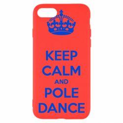 Чехол для iPhone 7 KEEP CALM and pole dance