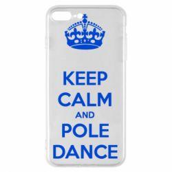 Чехол для iPhone 8 Plus KEEP CALM and pole dance