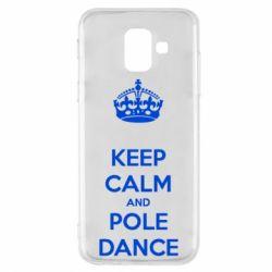 Чехол для Samsung A6 2018 KEEP CALM and pole dance