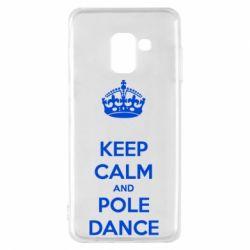 Чехол для Samsung A8 2018 KEEP CALM and pole dance