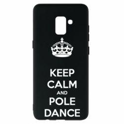 Чехол для Samsung A8+ 2018 KEEP CALM and pole dance