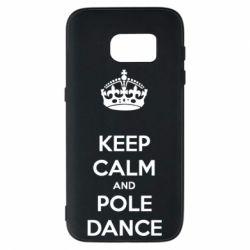 Чехол для Samsung S7 KEEP CALM and pole dance