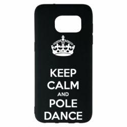 Чехол для Samsung S7 EDGE KEEP CALM and pole dance