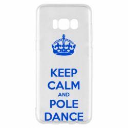 Чехол для Samsung S8 KEEP CALM and pole dance