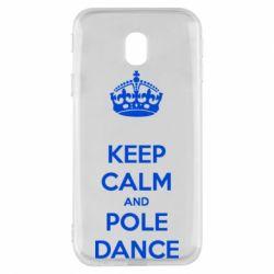 Чехол для Samsung J3 2017 KEEP CALM and pole dance